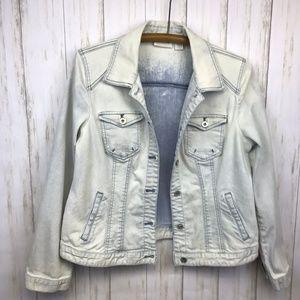 Chico's | Acid Washed Denim Jacket | Size 1 [med]